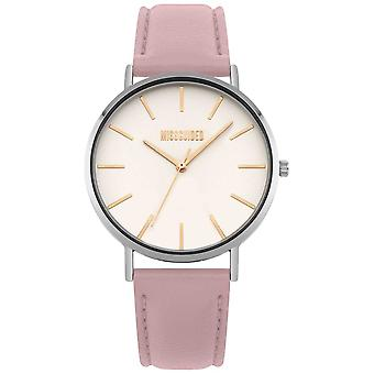 Missguided | Ladies | Pink Leather Strap White Dial | MG017P Watch