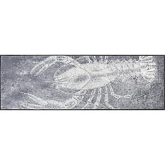 tvätt + torr matta grå hummer 60 x 180 cm tvättbar smuts matta