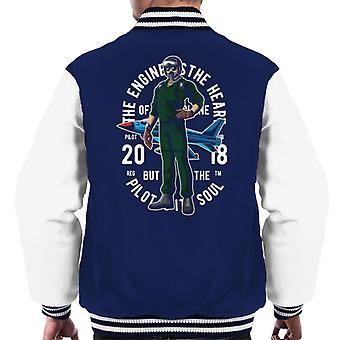 Pilot The Engine Is The Heart Men's Varsity Jacket