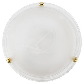 Eglo - Salome 1 luz tradicional resplendor teto luz vidro alabastro latão revestido terminar EG7185 pequeno