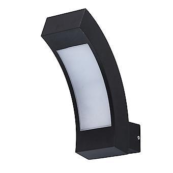 Glasberg - Black Led Outdoor Wall Light 803021001
