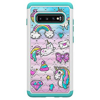 Samsung Galaxy S10 - TPU-Shell Armor Extra-Durable-Licorne et Cupcake