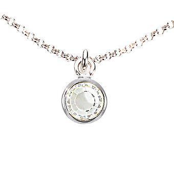 Ah! Bijoux en argent sterling cristaux clairs de Swarovski dangle collier.
