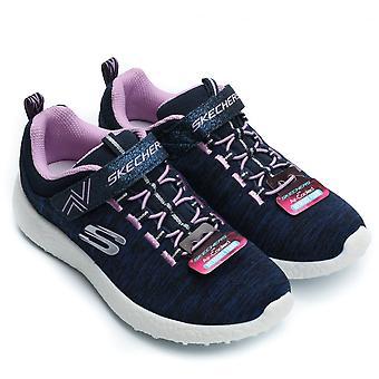 Skechers Burst Equinox Girl's Sneaker, Navy /Lavender