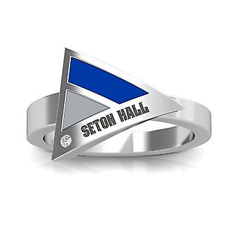 Seton Hall University Diamond Ring In Sterling Silver Design by BIXLER