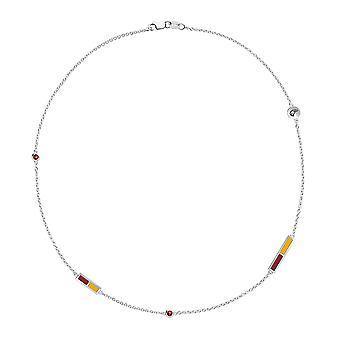 University of Louisiana at Monroe Garnet Chain Necklace In Sterling Silver Design by BIXLER