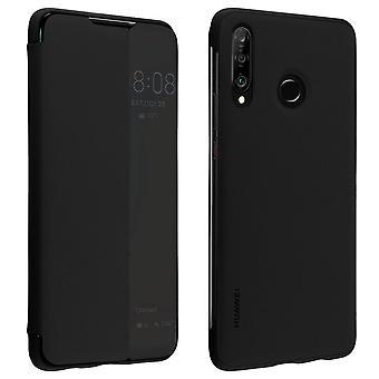 Huawei P30 Lite folio Smart View täysi suoja peite alkuperäinen Huawei-musta