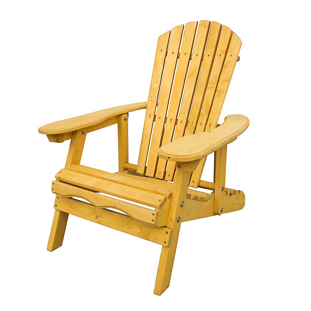 Outdoor Adirondack Garden Patio Chair Armchair with Adjustable Curved Back Rest