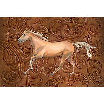 Carolines Treasures  SB3060PLMT Horse Fabric Placemat