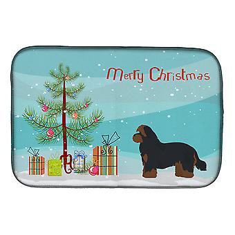 Carolines Treasures  CK3875DDM Shorkie #1 Christmas Tree Dish Drying Mat