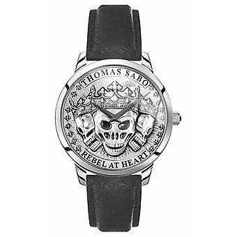 Thomas Sabo - France Crânes 3D Rebel Spirit de Men-apos;s Bracelet en cuir noir WA0355-203-201-42