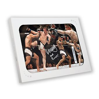 Brad Pickett Signed UFC Montage In Gift Box