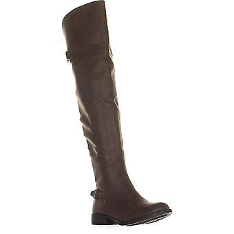الأمريكية خرقة النساء Adarra سويد اللوز تو الركبة أحذية الأزياء الراقية