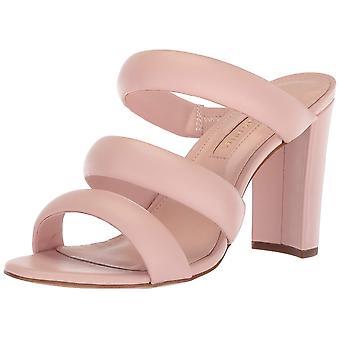 Avec Les Filles Womens Mule Leather Open Toe Casual Slide Sandals