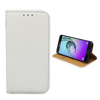 Samsung A5 2016 Ledertasche weiß - Bücherregal