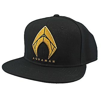 Aquaman Icon Embroidered Snapback Flatbill Hat