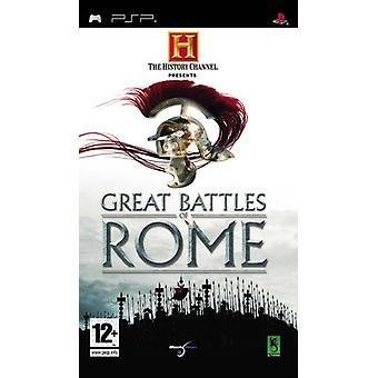Historien kanaliserar stora strider av Rome (PSP)-Fabriksförseglat