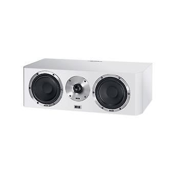Heco Elementa centrum 30, głośnik centralny, 2-drożny bass reflex, kolor: biały/satyna, 1 kawałek materiału Dziewica
