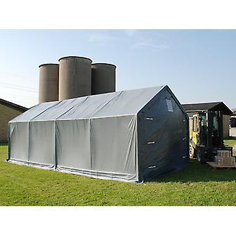 Lagerzelt PRO 3x8x2x2,82m, PVC, Grau