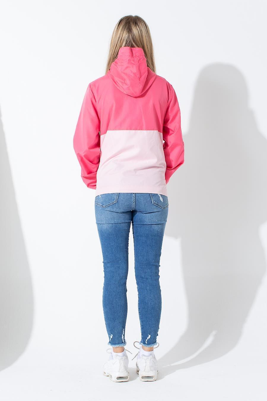 Hype Pink Script Kids Running Jacket