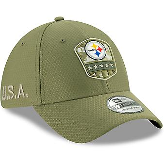 New Era 39Thirty Cap Salute to Service Pittsburgh Steelers