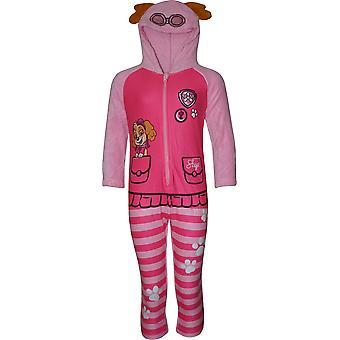 Holky HS2085 Paw Patrol fleece s kapucňou Sleepsuits/Onesie pyžamo