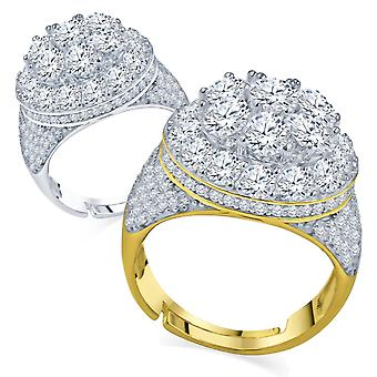 Sterling 925 Silver micro Pave Ring-ANGELIC