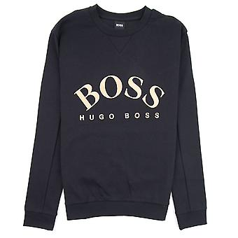 Hugo Boss Curved Logo Salbo Felpa 006 Nero
