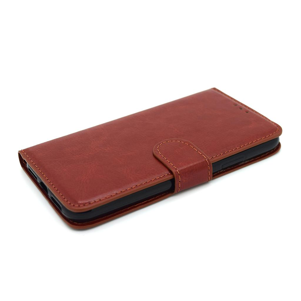 IPhone X wallet case protection sky cover brown