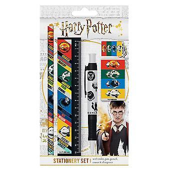 Harry Potter Hogwarts Häuser 5 Stück Briefpapier Set