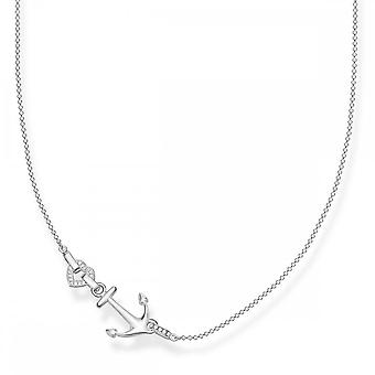 Thomas Sabo Sterling Silver Thomas Sabo Love Anchor Anchor Heart Necklace KE1851-051-14-L45v