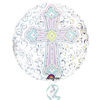Amscan Radiant Cross Round Foil Balloon