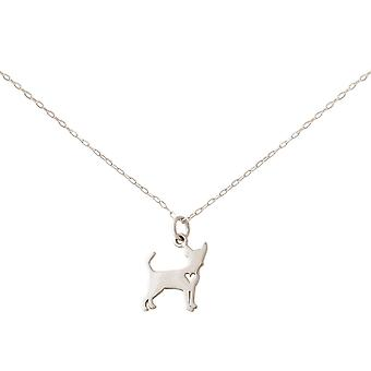 GEMSHINE Chihuahua dog pendant 925 silver, gold plated or rose on 45 cm chain