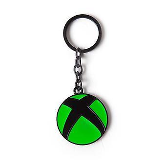 Microsoft Xbox logo metalen hanger keyring 16 cm groen/zwart (KE162678XBX)