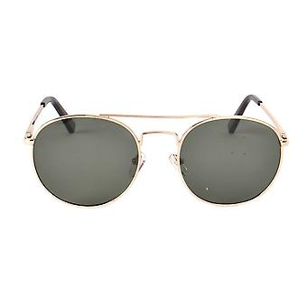 Le Specs Revolution Gold Round Sunglasses