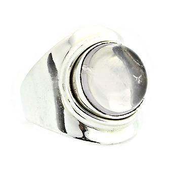 Ring 925 Silber mit Rosenquarz 54 mm / Ø 17.2 mm (KLE-RI-078-07-(54))