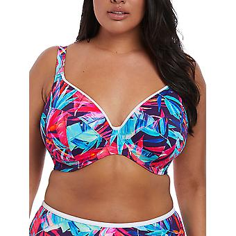 Paradise Palm Side Support Plunge Bikini Top
