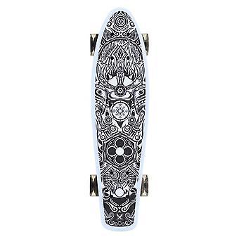 Kids Skateboard Gothic 22-quot;, 80A PU LED Wheels, ABEC 7, Essieu en aluminium