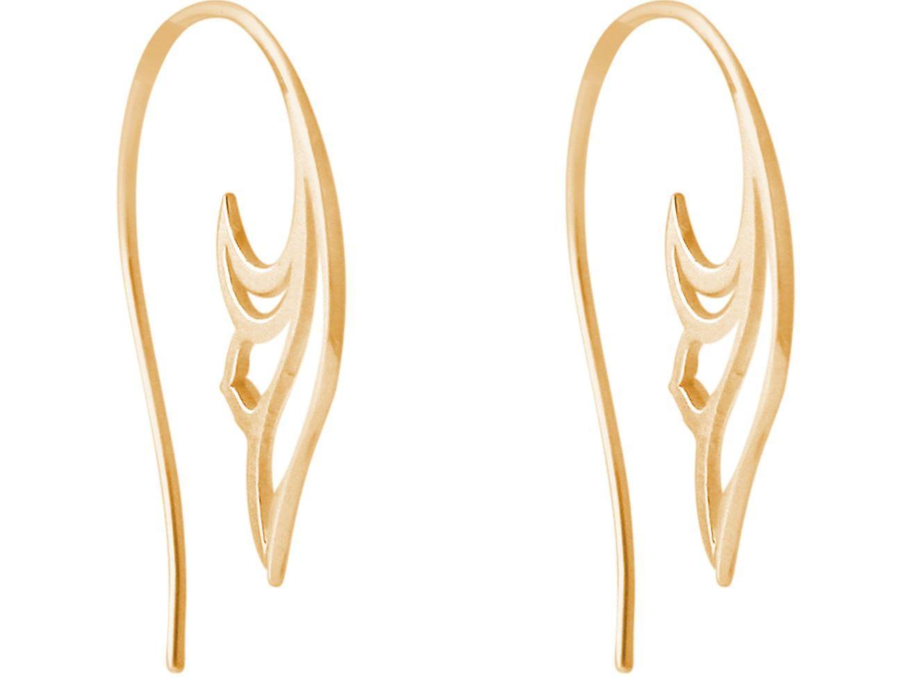 Gemshine Ohrringe Lotusblumen Scroll Creolen in 925 Silber, vergoldet oder rose