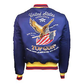 Top Gun Luck Bomber Jacket Navy