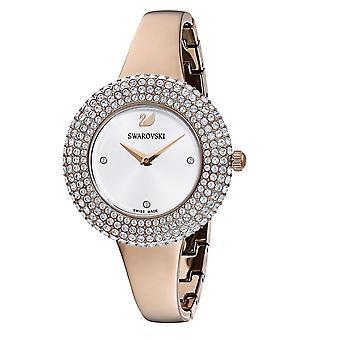 Se Swarovski 5484073-krystal rose armbånd Jonc Steel Dor Rose lunette Sertie en Micro-Pav kvinder