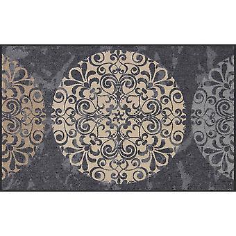 Salonloewe Tile Circles Doormat Washable 75 x 120 cm
