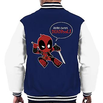 Marvel Here Comes Deadpool Men's Varsity Jacket