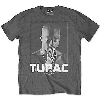 Grå Tupac Shakur 2Pac rap officiel T-shirt