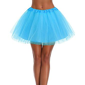 Women's, Teen, Adult Classic Elastic 3, 4, 5 Layered Tulle Tutu Skirt (One Si...