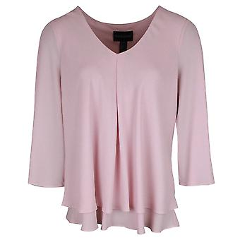 Frank Lyman roze V hals Cut away Sleeve gelaagde top