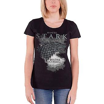 Game Of Thrones T Shirt House Stark Wolf Winter is Coming womens skinny fit