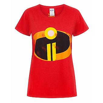 The Incredibles 2 Logo Women's Ladies Red T-Shirt Top