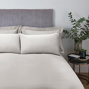 Plain Dye Bettdecke Set natürlich - Single