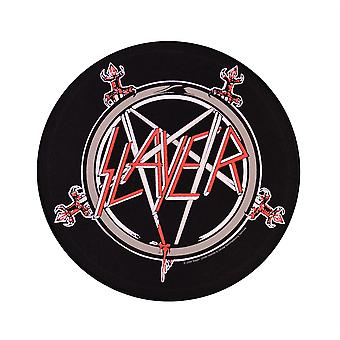 Slayer Pentagram pyöreä takaisin patch